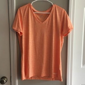 Nike Orange-Heathered Dri-Fit Shirt